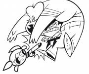 Coloring pages Combat Cartoon