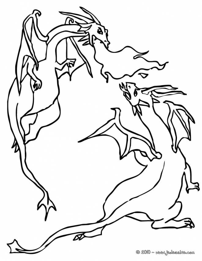 Free coloring and drawings Combat Dragon Coloring page