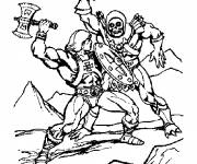 Free coloring and drawings Combat imaginary heroes Coloring page