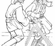 Coloring pages Combat Star Wars