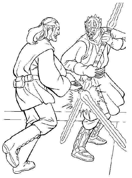 Free coloring and drawings Combat Star Wars Coloring page
