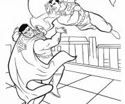 Free coloring and drawings Combat Superman Coloring page