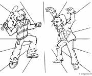 Free coloring and drawings Combat Zombie Coloring page
