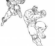 Coloring pages Fight between the giants