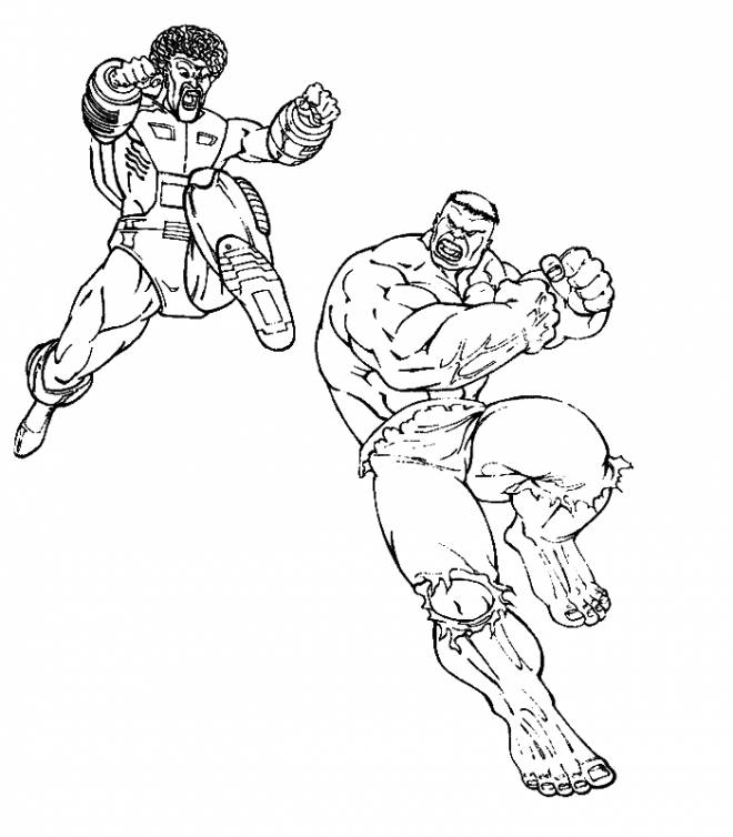 Free coloring and drawings Fight between the giants Coloring page
