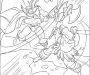 Coloring pages Fight to color