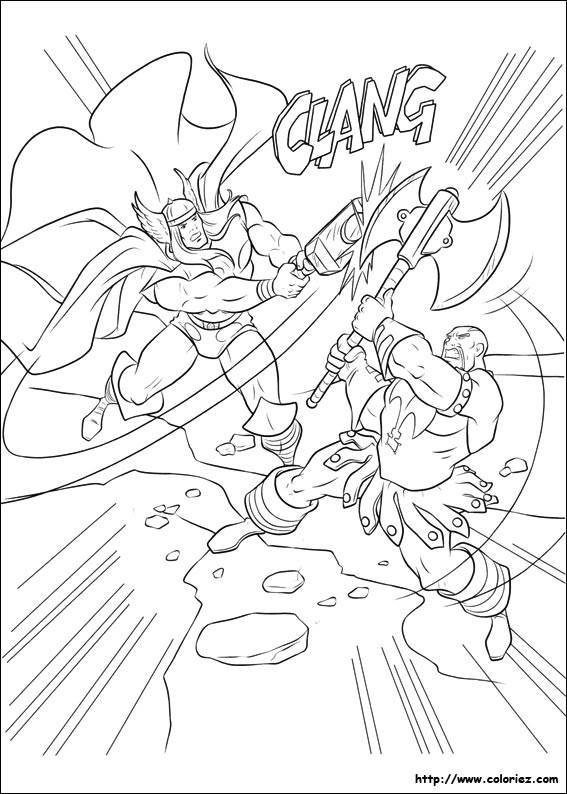 Free coloring and drawings Fight to color Coloring page