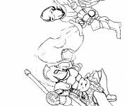 Free coloring and drawings Fighting Warriors Coloring page