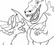 Coloring pages Monster Fight