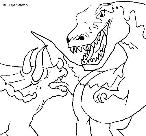 Free coloring and drawings Monster Fight Coloring page