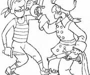 Coloring pages Pirate fight