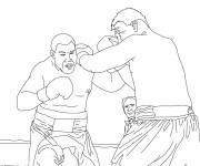 Coloring pages Stylized Boxing Fight