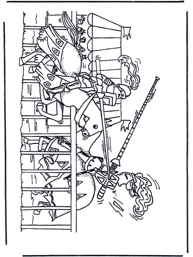Free coloring and drawings The battle Coloring page