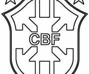 Free coloring and drawings Brazil soccer logo Coloring page