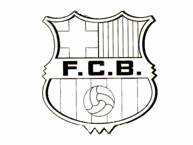 Free coloring and drawings FC Barcelona coloring logo Coloring page