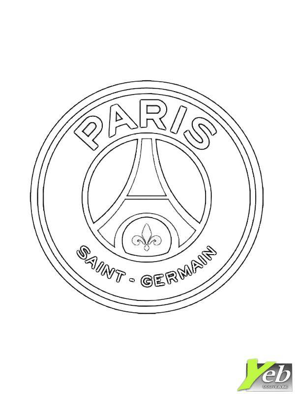 Free coloring and drawings Foot PSG Coloring page