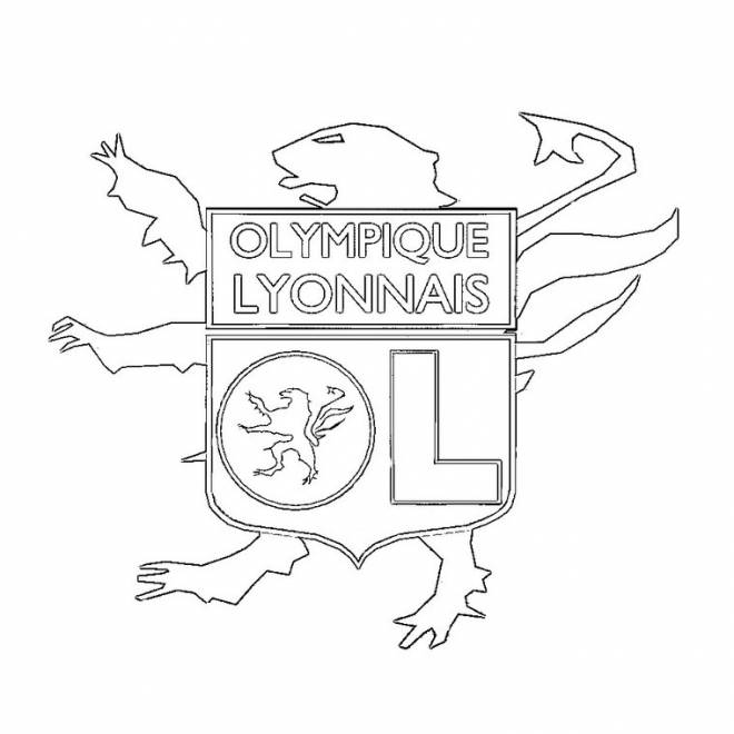 Free coloring and drawings Football and France OM Coloring page