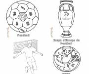 Free coloring and drawings Football and Trophies Coloring page