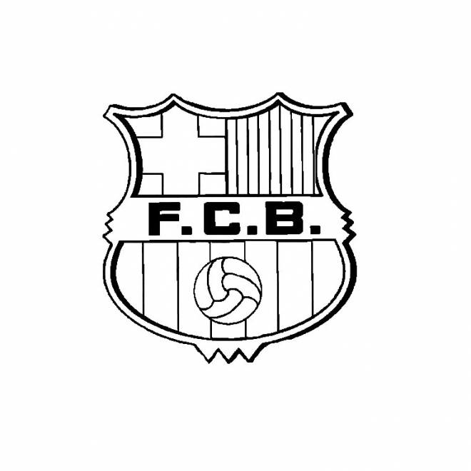 Free coloring and drawings Football Barcelona Coloring page