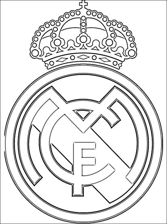Free coloring and drawings Football Real Madrid Coloring page