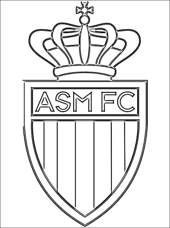 Free coloring and drawings French team Monaco logo Coloring page