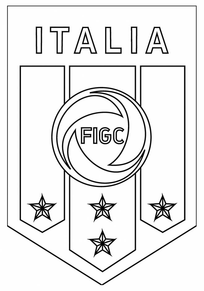 Free coloring and drawings Italy football team logo Coloring page
