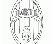 Free coloring and drawings Juve Italian logo Coloring page