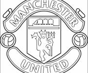 Free coloring and drawings Logo de Manchester United Coloring page