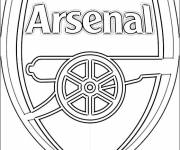 Free coloring and drawings Logo of Arsenal Coloring page