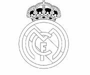 Free coloring and drawings Logo Real Madrid Coloring page