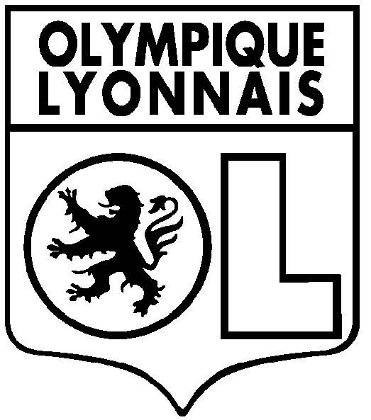 Free coloring and drawings Lyonnais Olympic Football Coloring page