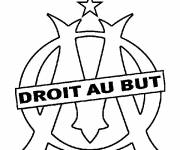 Free coloring and drawings Olympique Marseille logo Coloring page