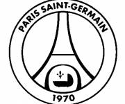 Free coloring and drawings PSG logo Coloring page