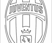 Free coloring and drawings The Juventus logo Coloring page