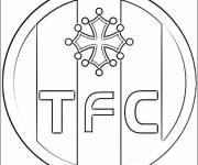 Free coloring and drawings Toulouse FC logo Coloring page