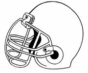 Coloring pages American Football Helmet