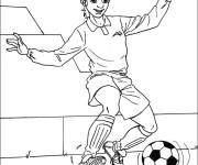 Coloring pages Child soccer player