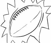 Coloring pages Color Rugby Ball