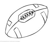 Coloring pages Easy Rugby Ball
