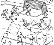 Coloring pages Football game