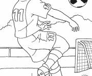 Coloring pages Football Head Hit