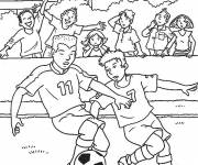 Coloring pages Football match