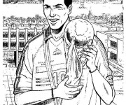 Coloring pages Football Zidane