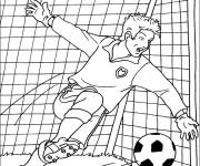 Coloring pages Goalkeeper