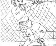 Coloring pages Goalkeeper stops the ball