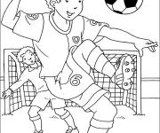 Coloring pages Player against Goal