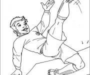 Coloring pages Soccer player to cut out