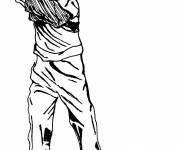 Coloring pages Adult golf in pencil