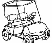 Coloring pages Color Golf Car