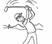 Free coloring and drawings Cutting golf course Coloring page